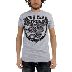 Four Year Strong - Mens Eagle & Snake T-Shirt in Ash