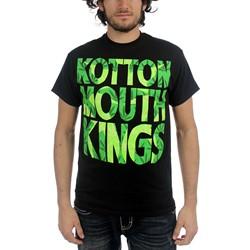 Kottonmouth Kings - Mens Block Letter Leaves T-Shirt in Black