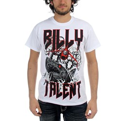 Billy Talent - Mens Surprise Shark T-Shirt in White