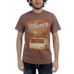 America - Mens Ventura Highway T-shirt in Brown
