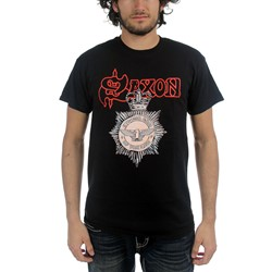 Saxon - Mens Strong Arm of the Law T-Shirt in Black