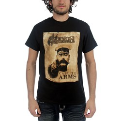 Saxon - Mens Call to Arms T-Shirt in Black