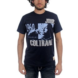 John Coltrane - Mens Reflection T-shirt in Navy