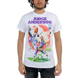 Judge Dredd - Mens Anderson Rogue Trooper T-Shirt in White