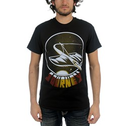 Journey - Mens Spaceship T-Shirt in Black
