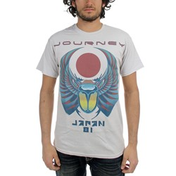 Journey - Mens Japan 81 T-Shirt in Silver