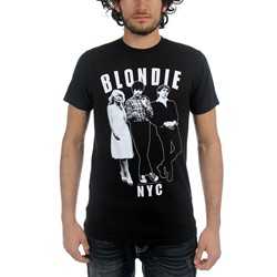 Blondie - Mens Against the Wall T-Shirt in Black