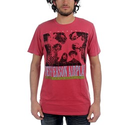Jefferson Airplane - Mens Birds Eye View T-shirt in Red