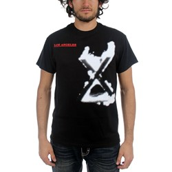 X - Mens Los Angeles T-shirt in Black