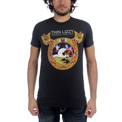 Thin Lizzy - Mens Johnny the Fox T-shirt in Black