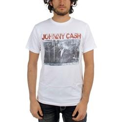 Johnny Cash - Mens Folsom Prison T-shirt in White