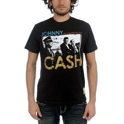 Johnny Cash - Mens Security T-shirt in Black