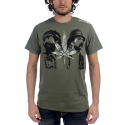 Cheech & Chong - Mens Vintage T-Shirt in Olive