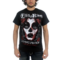 Thick As Blood - Mens Living Proof T-Shirt in Black
