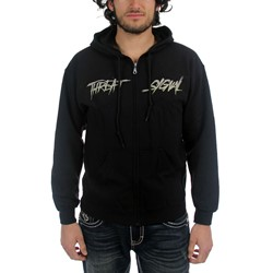 Threat Signal - Mens Logo-Grind Hoodie In Black
