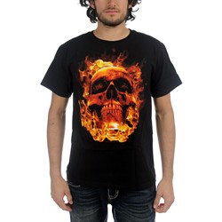 Netherworld  - Fire Skull Adult T-Shirt