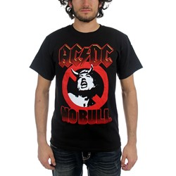 Ac/Dc - No Bull Circle Angus Adult T-Shirt
