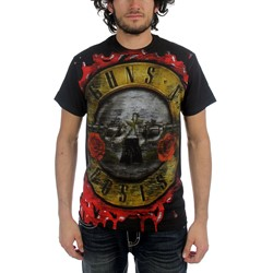 Guns N Roses - Jumbo Bloody Bullet Mens T-Shirt In Black