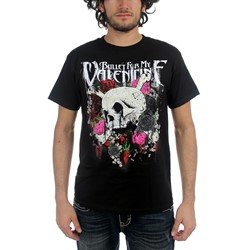 Bullet For My Valentine - Skull And Roses Mens S/S T-Shirt In Black