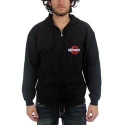 King'S X - Pocket Print Adult Hooded Sweatshirt In Black