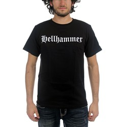 Hellhammer - Old English Logo Only Death Is Real Adult T-Shirt In Black