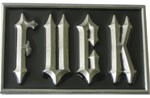 SMALL FUCK buckle (Black and Silver Grey)