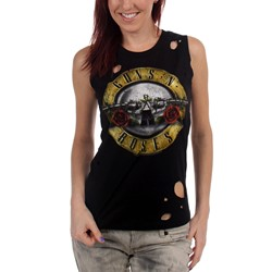 Guns N Roses - Womens Circle Guns Tank Top in Black