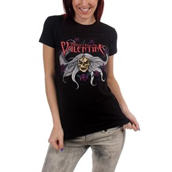 Bullet for my Valentine Skull & Flowers Juniors T-shirt in Black