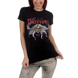 Bullet for my Valentine Skull & Flowers Juniors T-shirt in Black
