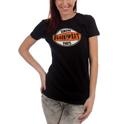 Black Kat Custom - Genuine Parts Girls S/S T-Shirt In Black