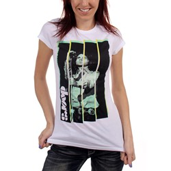 The Doors - Womens Stripe T-shirt in White