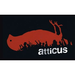 "Atticus in Crowd Sticker in Black - 5"" x 3"""