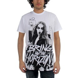 Bring Me The Horizon - Black Metal Mens T-Shirt In White