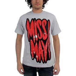Miss May I - Mens Say Prayers T-shirt in Grey
