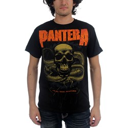 Pantera Snake Adult S/S T-Shirt In Black