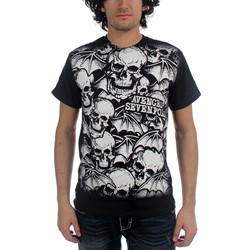 Avenged Sevenfold - A/O White Deathbats Mens S/S T-Shirt In Black
