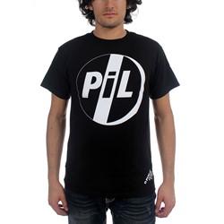Pil - White Logo On Black Tee Mens S/S T-Shirt In Black
