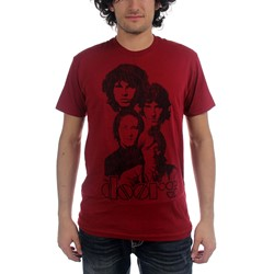 The Doors - Totem 30/1 Enzyme Wash Mens S/S T-Shirt In Red