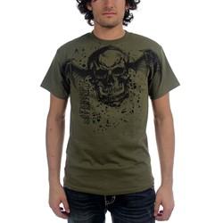 Avenged Sevenfold - Oversize Deathbat Mens T-Shirt In Olive