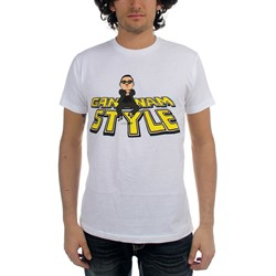 Psy - Mens Gagnam Style Bounce T-Shirt in White