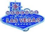 Welcome To Vegas buckle (Blue and Red)