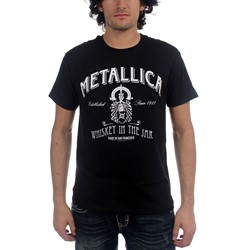 Metallica - Whiskey Label Mens S/S T-Shirt In Black