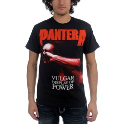Pantera - Mens Red Vulgar T-shirt in Black