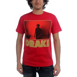 Drake - Red Photo Outline Mens T-Shirt In Red