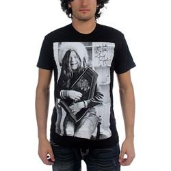 Janis Joplin - Mens Good Luck Laugh T-Shirt In Black