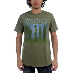 Incubus - Mens Washout T-Shirt In Olive