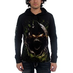 Disturbed - Mens Gian Face Pullover Hooded Sweater In Black