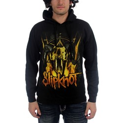 Slipknot - Mens Cattle Skull Pullover Hooded Sweater In Black