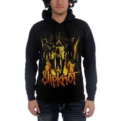 Slipknot - Mens Cattle Skull Pullover Hooded Sweater In Black