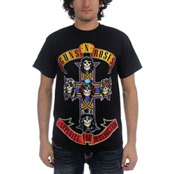 Guns N Roses - Cross Mens S/S T-Shirt In Black